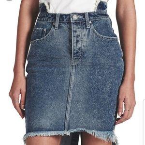One Teaspoon High Waist Denim Skirt